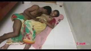 hindi telugu village couple making love passionate hot sex on the floor in saree