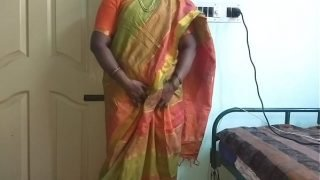 Indian desi maid forced to show her natural tits to home owner